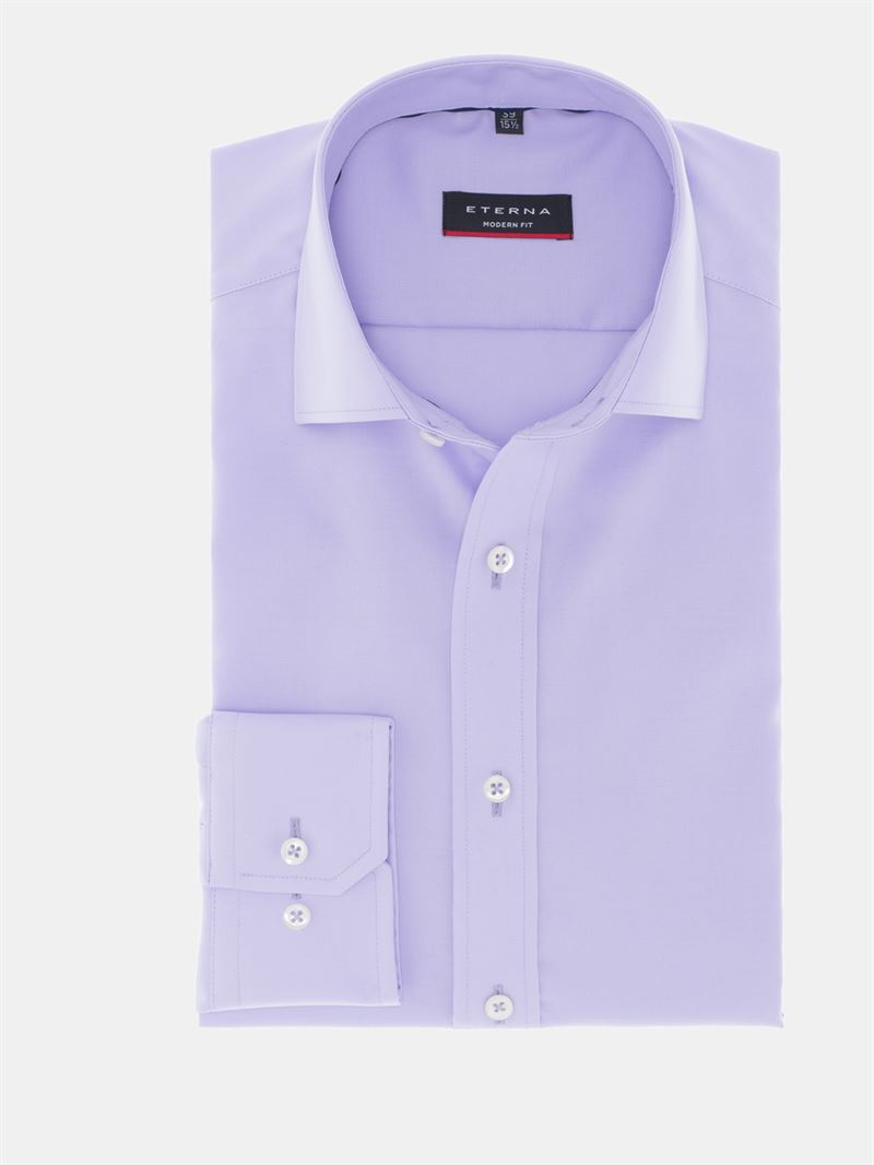 612be6cd Eterna skjorte lys lilla uden brystlomme 8100 92 X177