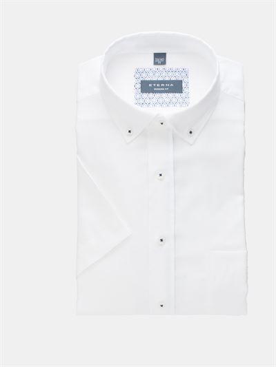 c5953674a0f Eterna kortærmet hørskjorte Modern Fit