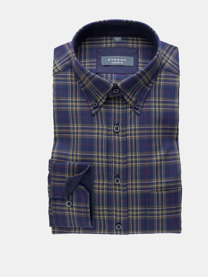 4d503290 Eterna blå/grøn ternet flannel. Comfort Fit 2167 19 E244