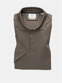 Eterna Super Soft Two Ply jersey polo i taupe. Slim Fit 2158 34 B68V