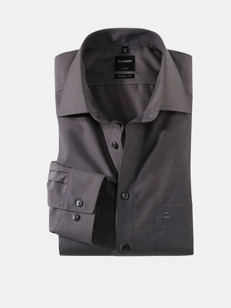 olymp antracit gr skjorte modern fit 0304 64 67. Black Bedroom Furniture Sets. Home Design Ideas