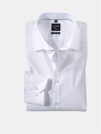 olymp hvid skjorte super slim ol0467 64 00n. Black Bedroom Furniture Sets. Home Design Ideas
