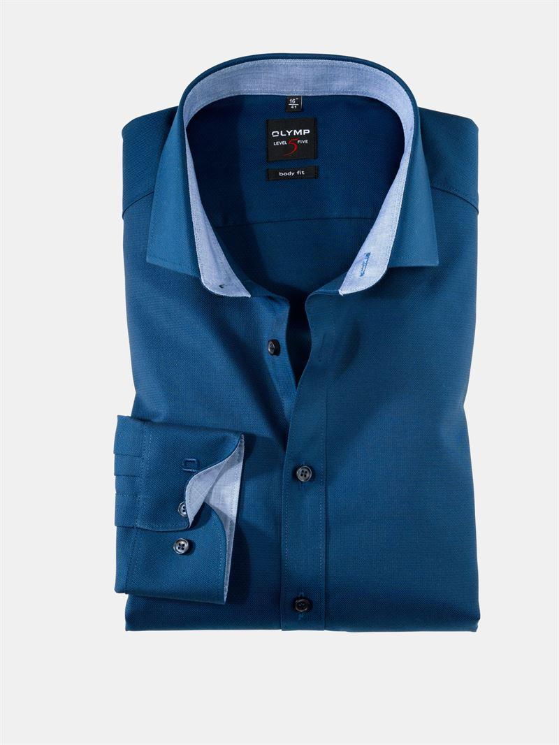 503ce46c Olymp marineblå skjorte. Body Fit 0531 64 18